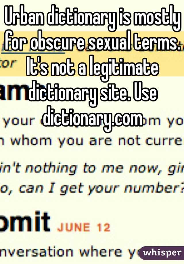 Obsecure sexual terms