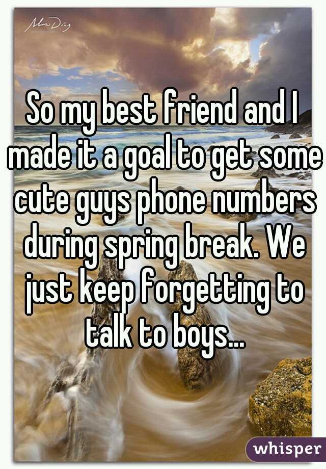 Cute guys numbers