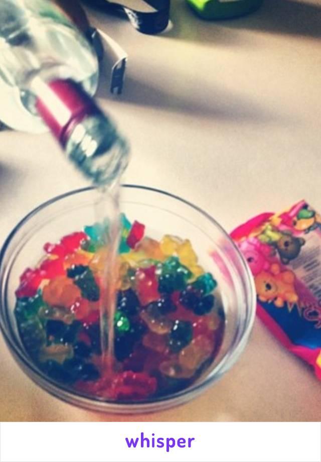 I snuck in gummy bears marinated in vodka into the festival.  Happy Coachella!