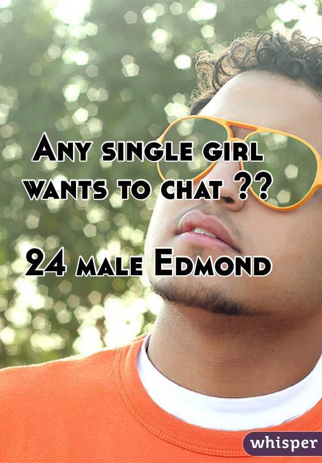 Any single girl wants to chat ??  24 male Edmond