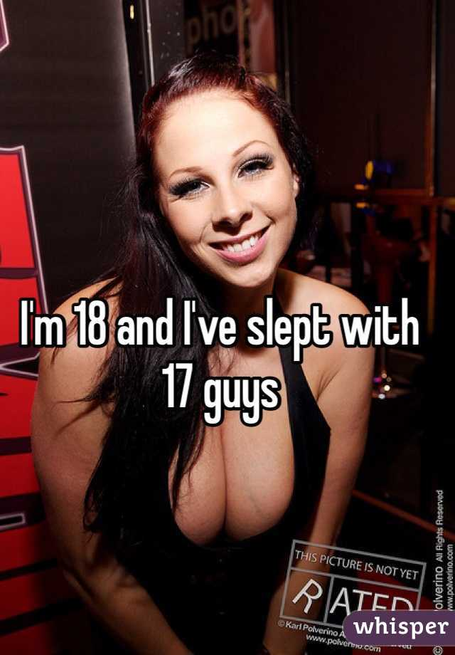 I'm 18 and I've slept with 17 guys