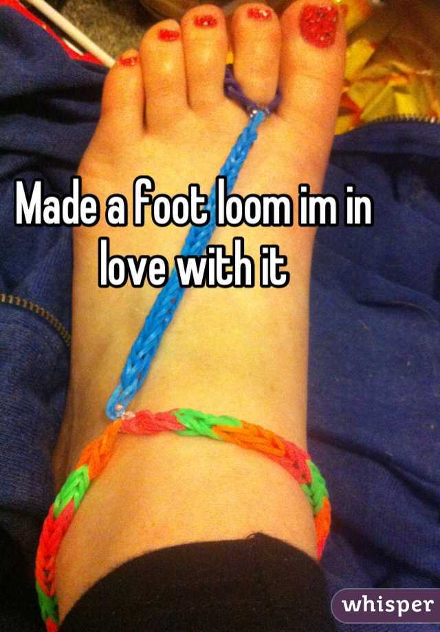 Made a foot loom im in love with it