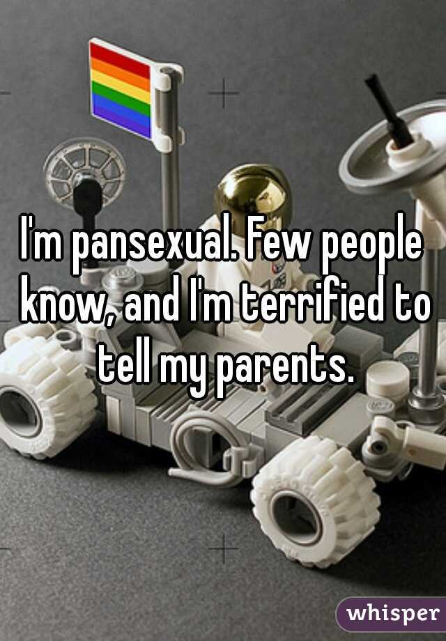 I'm pansexual. Few people know, and I'm terrified to tell my parents.