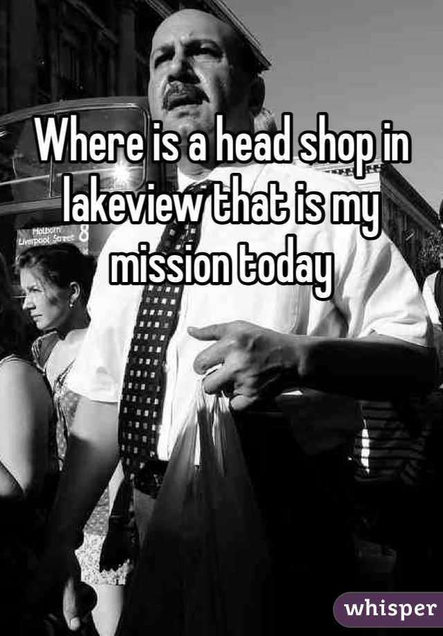 Where is a head shop in lakeview that is my mission today