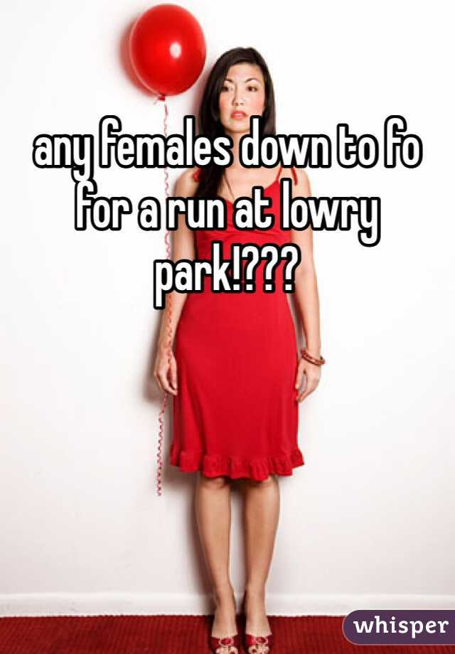 any females down to fo for a run at lowry park!???