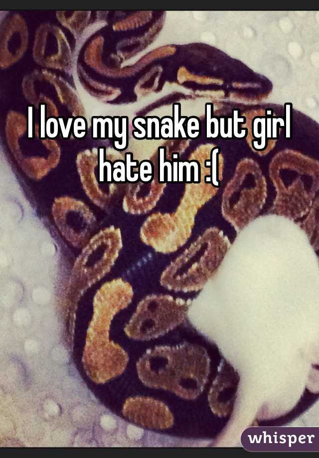 I love my snake but girl hate him :(
