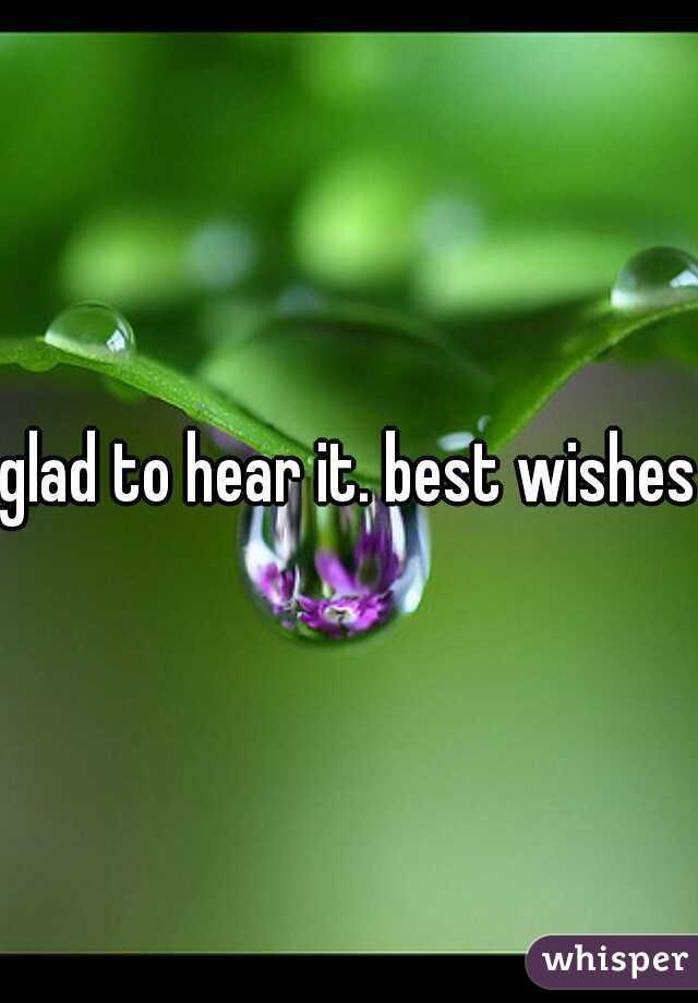 glad to hear it. best wishes