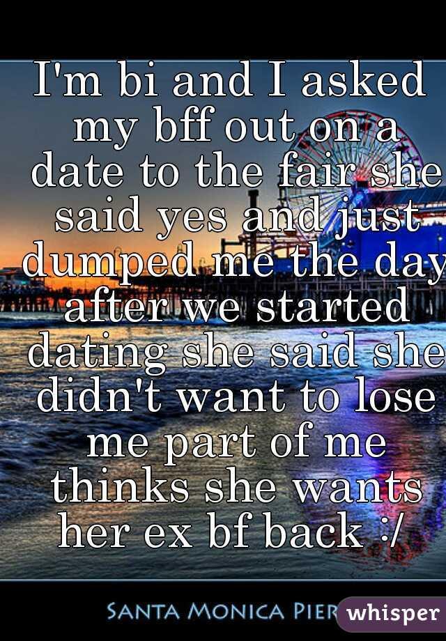 I'm bi and I asked my bff out on a date to the fair she