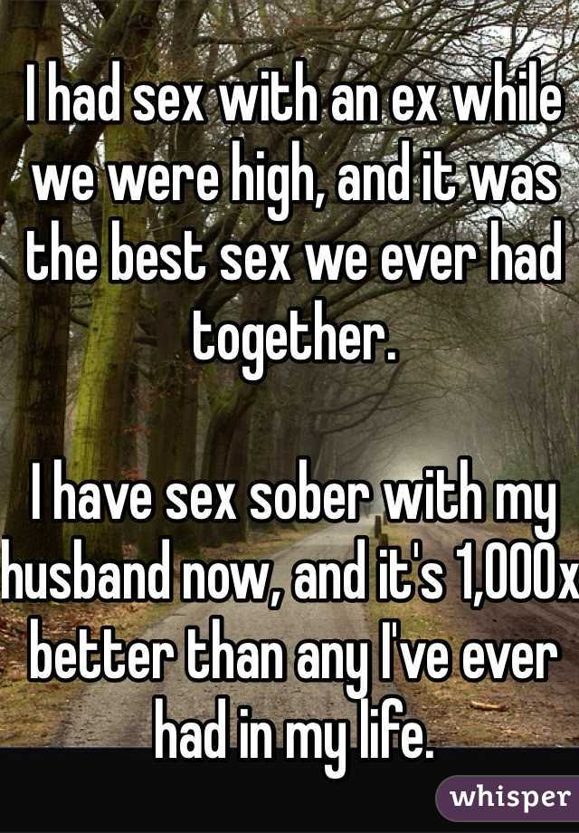 Had better sex with ex than with husband