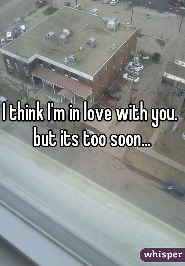 I think I'm in love with you.  but its too soon...