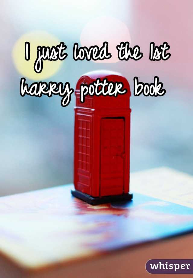 I just loved the 1st harry potter book