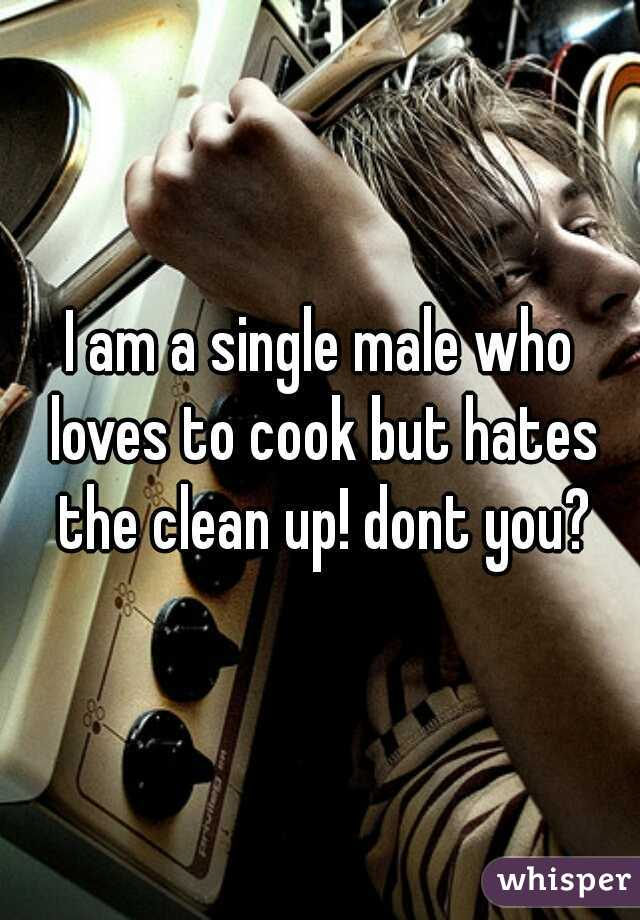 I am a single male who loves to cook but hates the clean up! dont you?