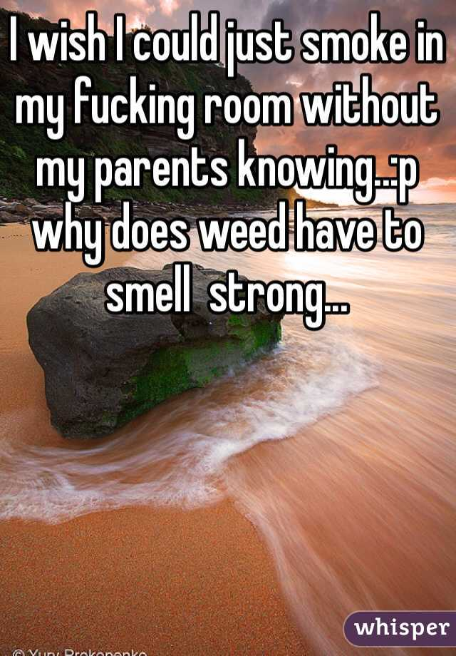 I wish I could just smoke in my fucking room without my parents knowing..:p why does weed have to smell  strong...