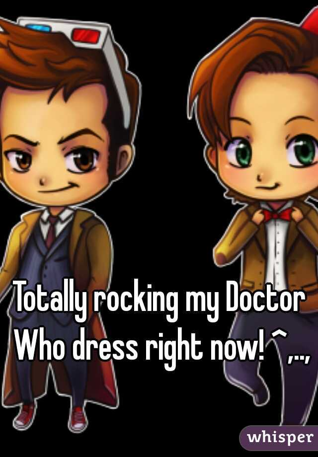 Totally rocking my Doctor Who dress right now! ^,..,^