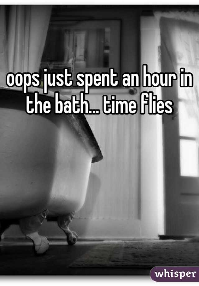 oops just spent an hour in the bath... time flies