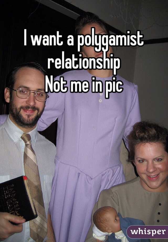 I want a polygamist relationship  Not me in pic