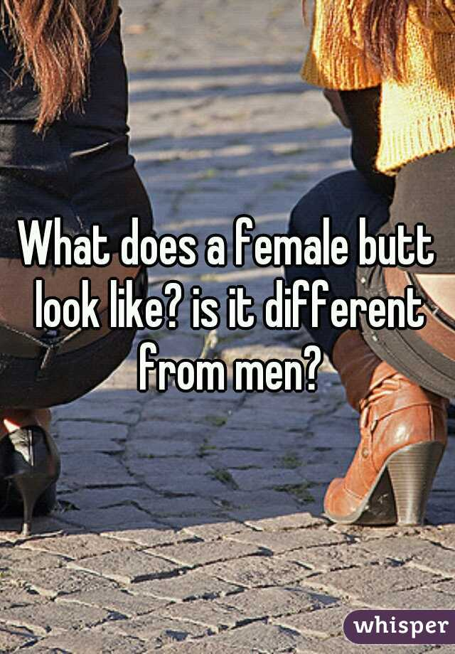 What does a female butt look like? is it different from men?