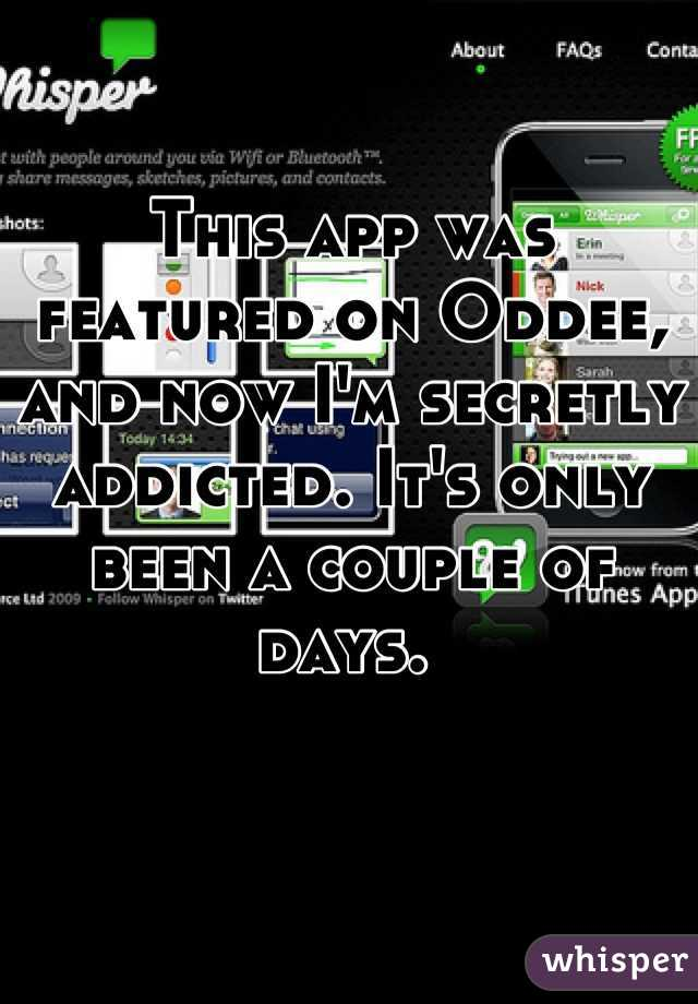 This app was featured on Oddee, and now I'm secretly addicted. It's only been a couple of days.