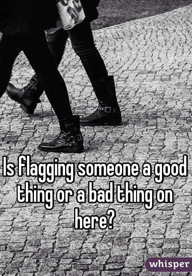 Is flagging someone a good thing or a bad thing on here?