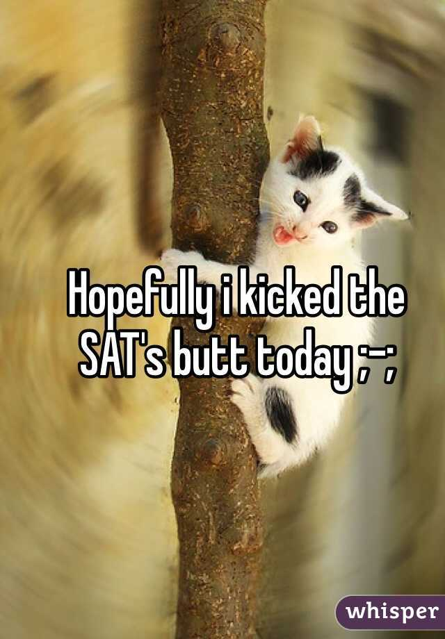 Hopefully i kicked the SAT's butt today ;-;