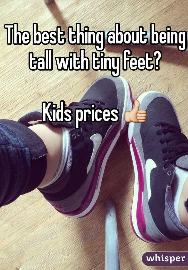 The best thing about being tall with tiny feet?  Kids prices 👍