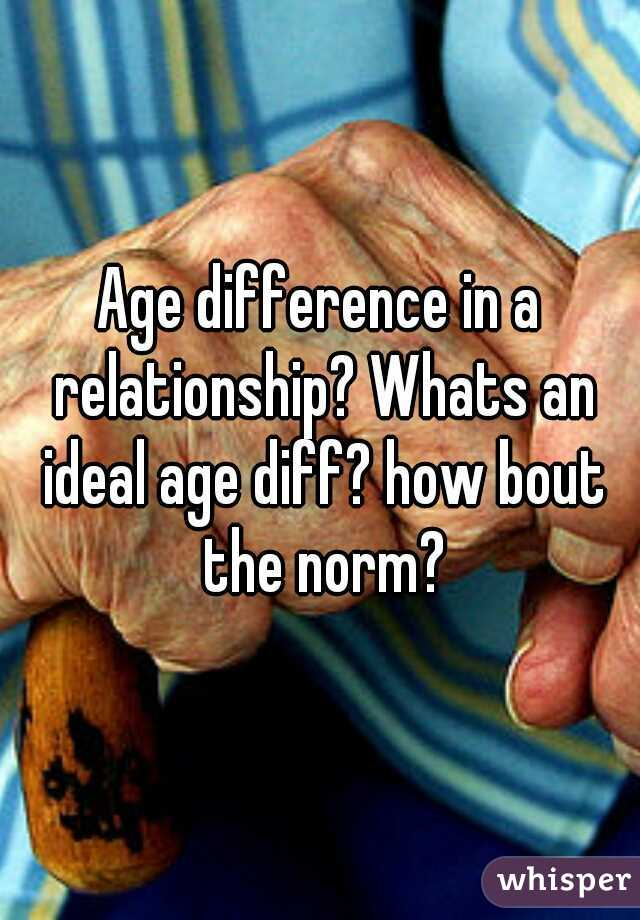 Age difference in a relationship? Whats an ideal age diff? how bout the norm?