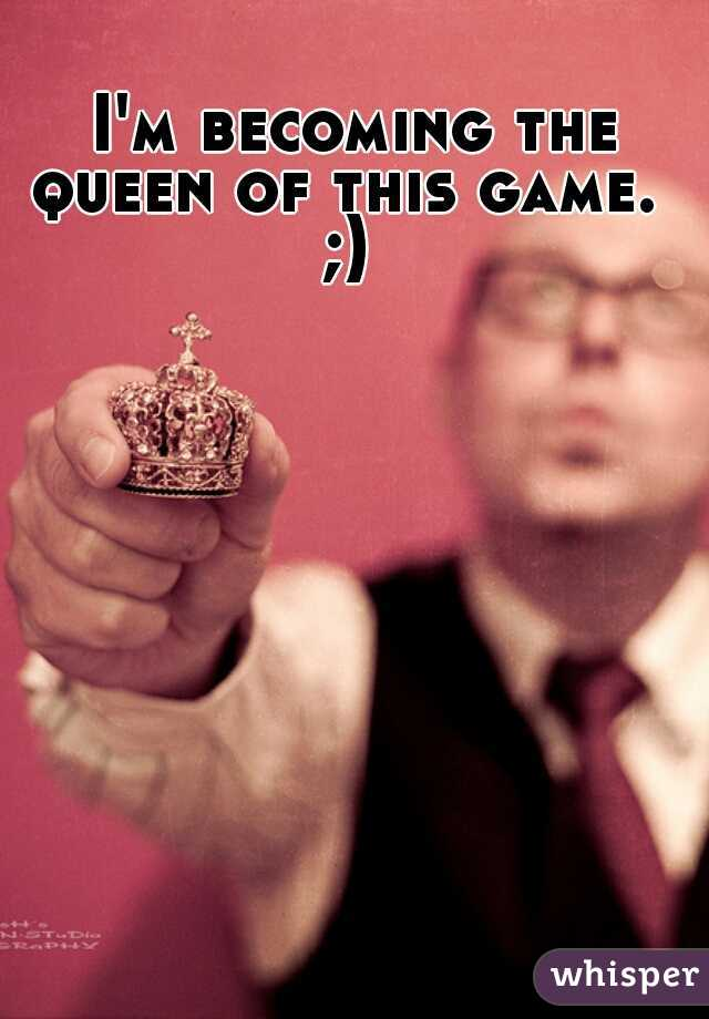 I'm becoming the queen of this game.   ;)