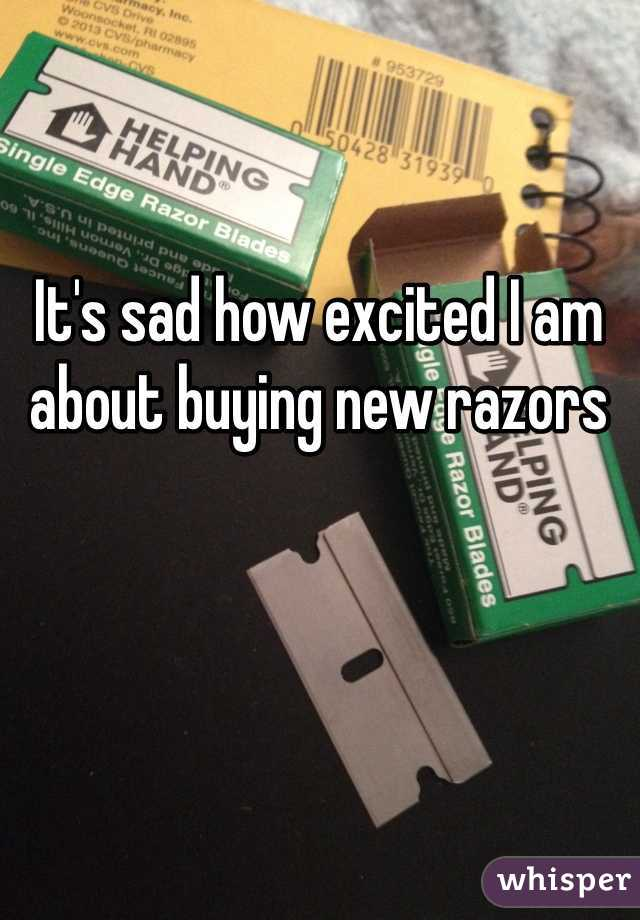It's sad how excited I am about buying new razors