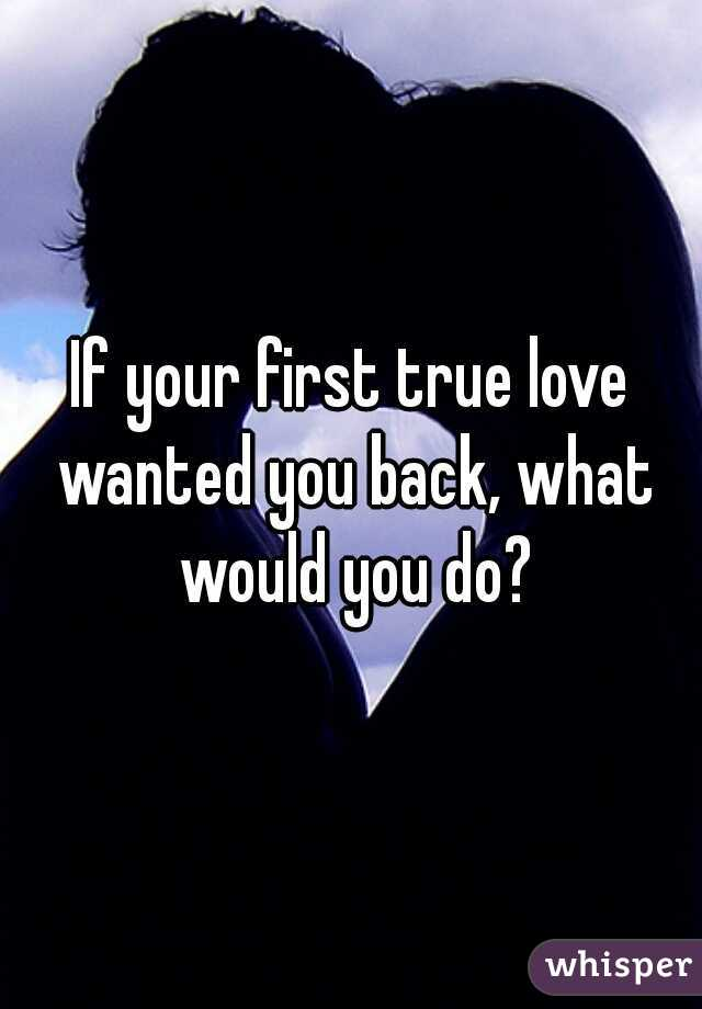 If your first true love wanted you back, what would you do?
