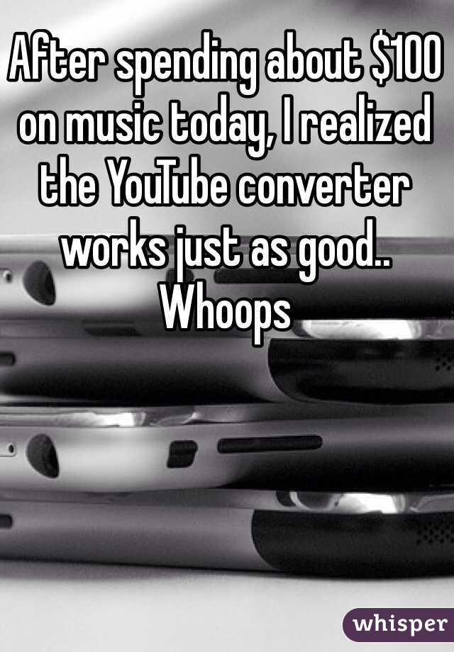 After spending about $100 on music today, I realized the YouTube converter works just as good.. Whoops