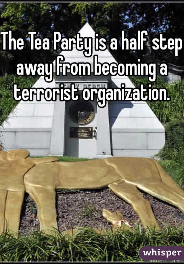 The Tea Party is a half step away from becoming a terrorist organization.