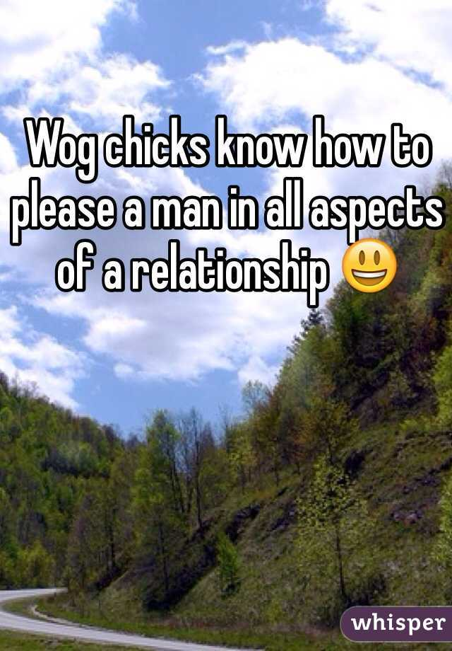 Wog chicks know how to please a man in all aspects of a relationship 😃