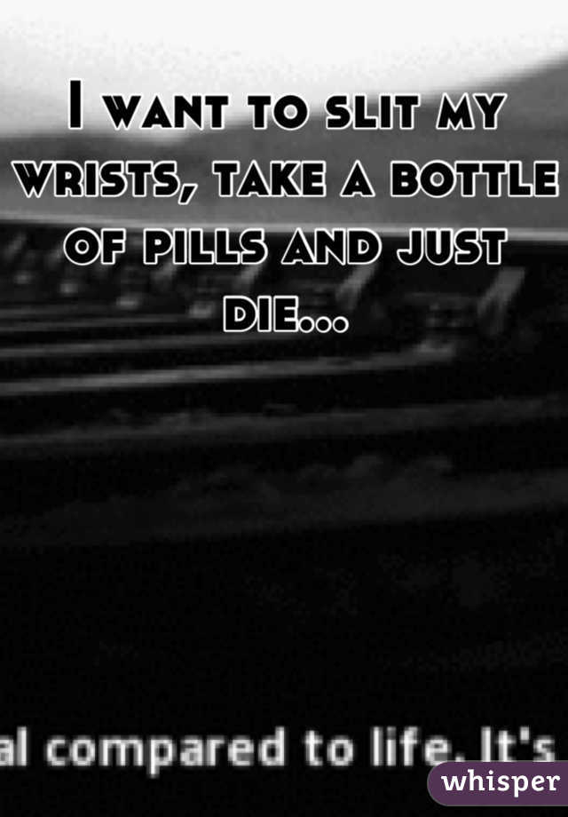 I want to slit my wrists, take a bottle of pills and just die...