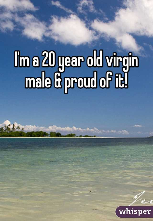 I'm a 20 year old virgin male & proud of it!