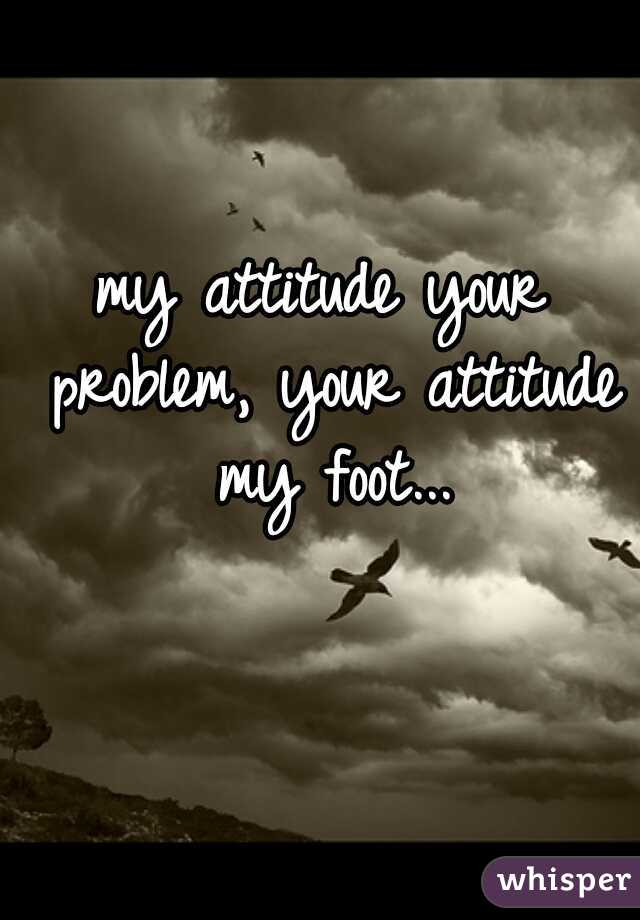 my attitude your problem, your attitude my foot...