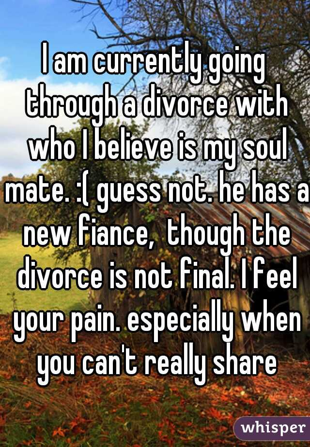 i am going through a divorce