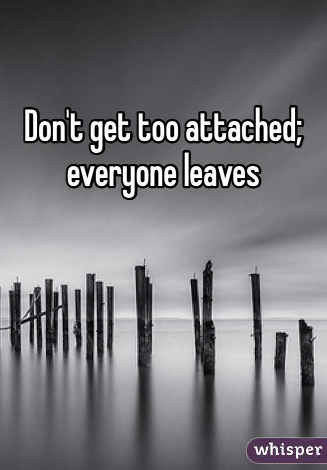 dont get too attached