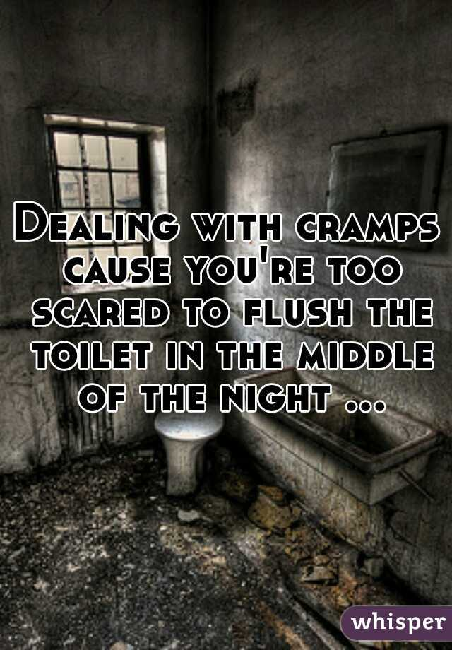 Dealing with cramps cause you're too scared to flush the toilet in the middle of the night …