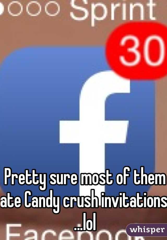 Pretty sure most of them ate Candy crush invitations ...lol