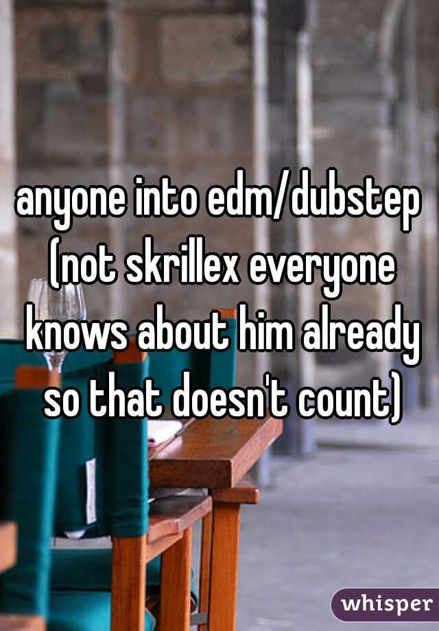anyone into edm/dubstep (not skrillex everyone knows about him already so that doesn't count)