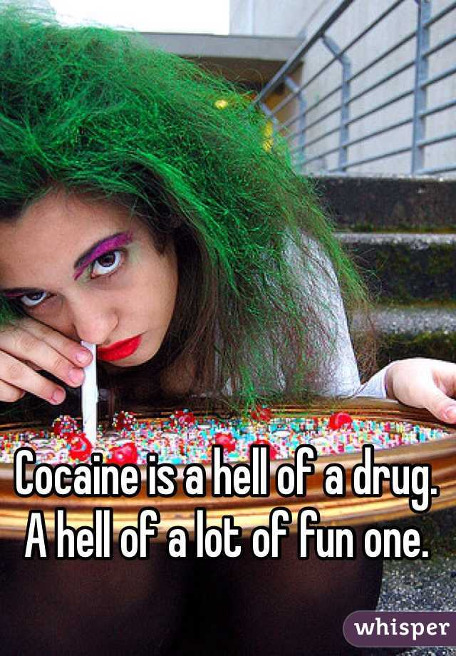 Cocaine is a hell of a drug.  A hell of a lot of fun one.