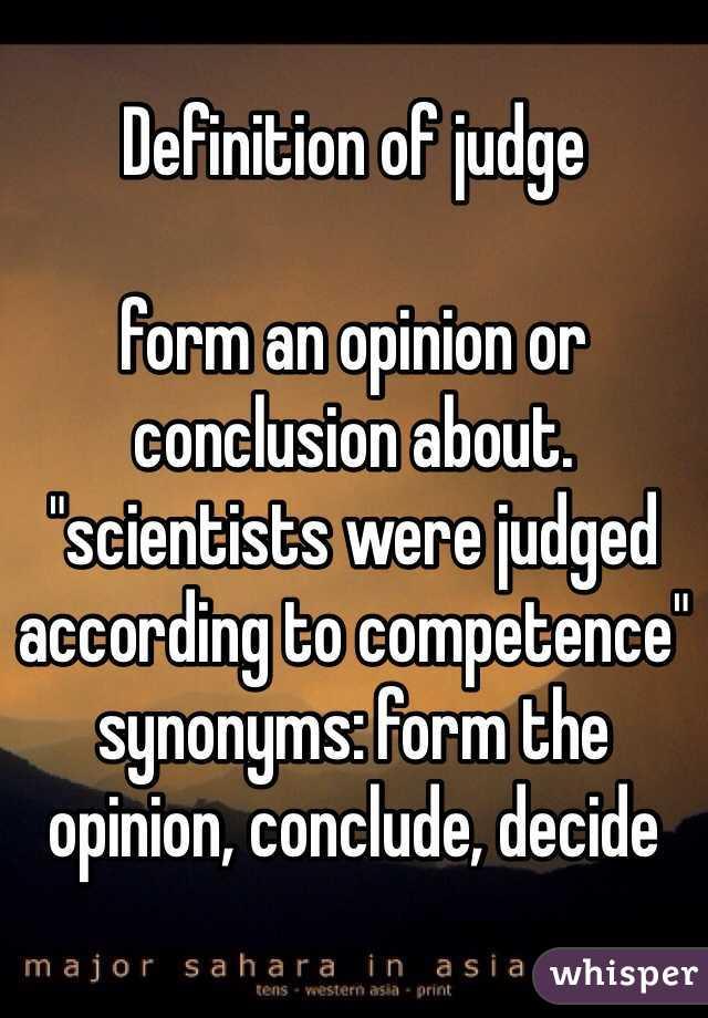 form a conclusion