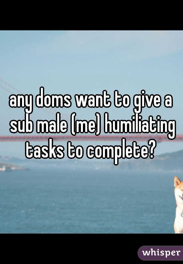 All can Sub male Humiliation captions good
