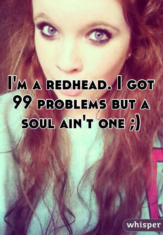 redhead girl problems