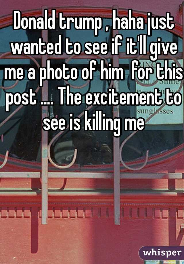 Donald trump , haha just wanted to see if it'll give me a photo of him  for this post .... The excitement to see is killing me