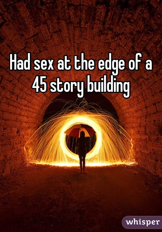 Sex at the edge of night