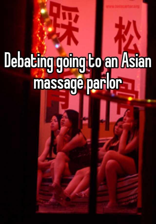 Asian massage palor are mistaken