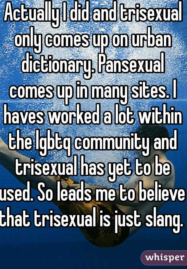 Trisexual vs pansexual
