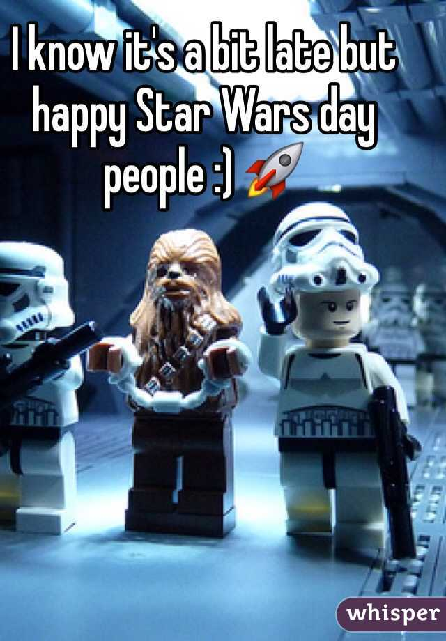 I know it's a bit late but happy Star Wars day people :) 🚀