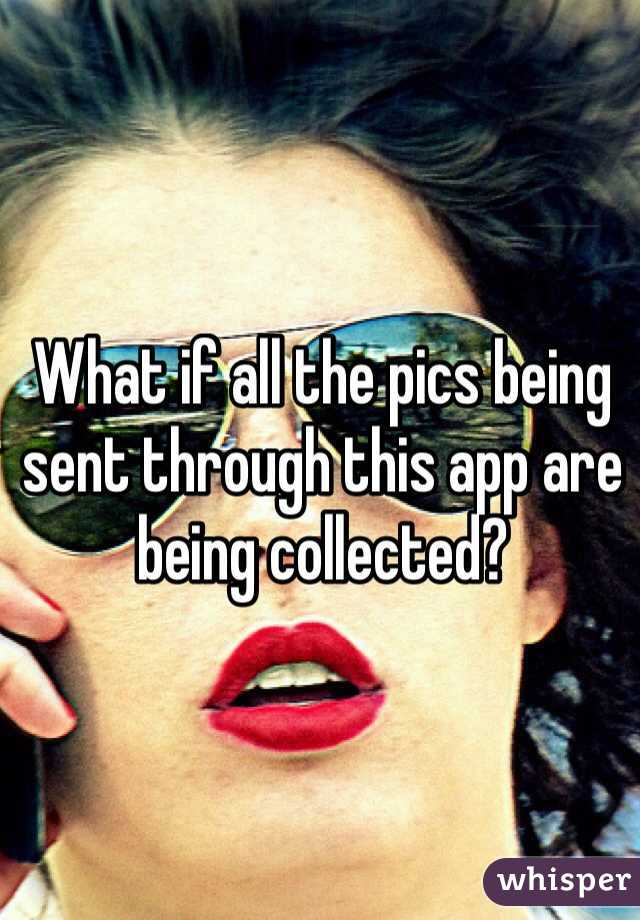 What if all the pics being sent through this app are being collected?